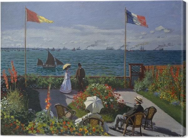 Leinwandbild Claude Monet - Die Terrasse von Sainte-Adresse - Reproduktion