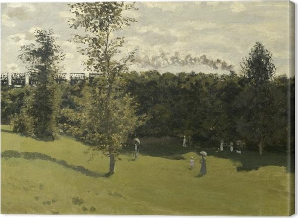Leinwandbild Claude Monet - Eisenbahn in offener Landschaft - Reproduktion
