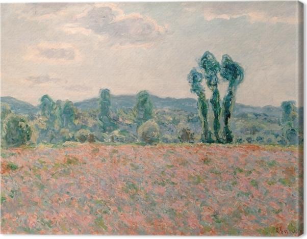 Leinwandbild Claude Monet - Feld mit Mohnblumen - Reproduktion