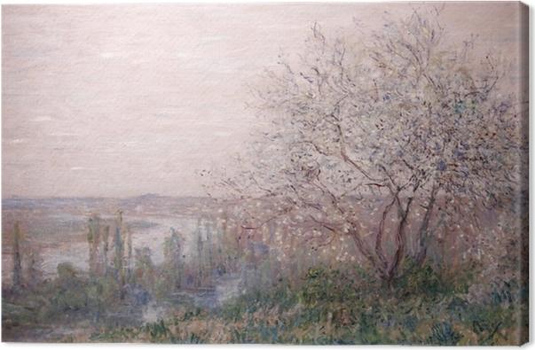 Leinwandbild Claude Monet - Frühling - Reproduktion