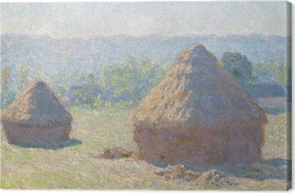 Leinwandbild Claude Monet - Getreideschober - Reproduktion