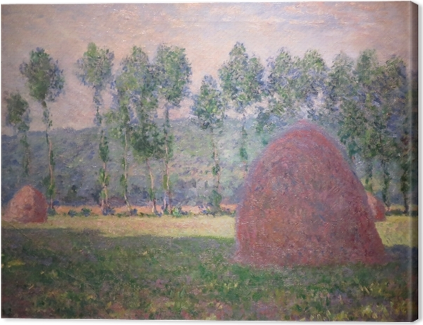 Leinwandbild Claude Monet - Heuhaufen bei Giverny - Reproduktion