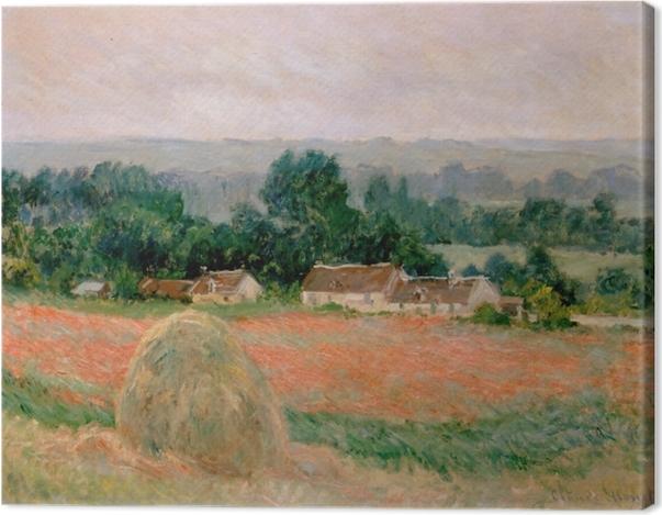 Leinwandbild Claude Monet - Heuhaufen in Giverny - Reproduktion