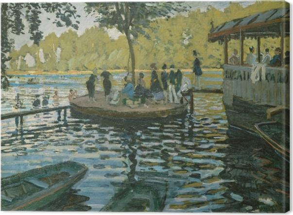 Leinwandbild Claude Monet - La Grenouillère (Der Froschteich) - Reproduktion