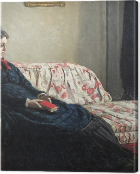 Leinwandbild Claude Monet - Meditation oder Madame Monet auf dem Sofa - Reproduktion