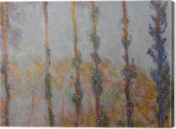 Leinwandbild Claude Monet - Pappeln am Ufer der Epte - Reproduktion