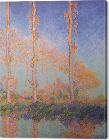 Leinwandbild Claude Monet - Pappeln - Reproduktion