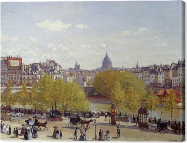 Leinwandbild Claude Monet - Quai du Louvre - Reproduktion