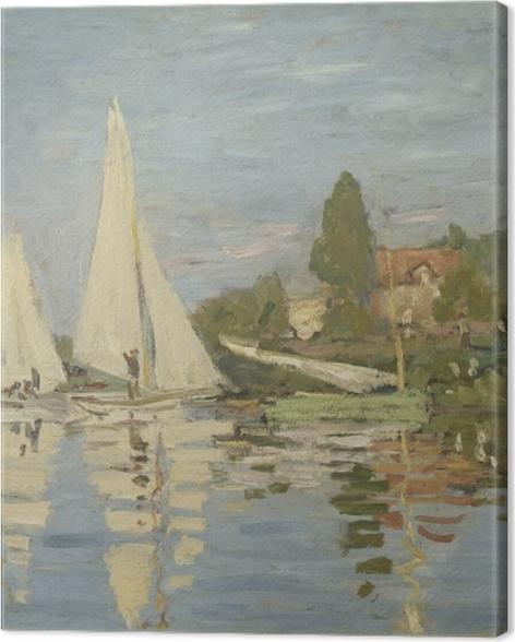 Leinwandbild Claude Monet - Regatta in Argenteuil - Reproduktion