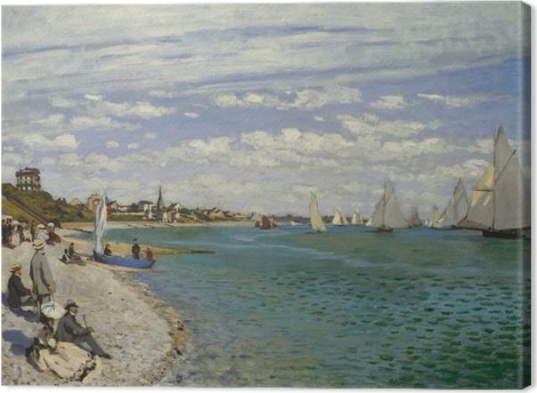Leinwandbild Claude Monet - Regatta in Sainte-Adresse - Reproduktion