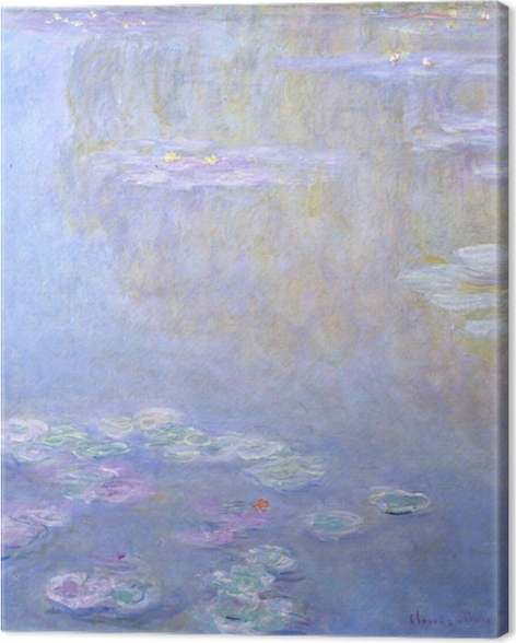 Leinwandbild Claude Monet - Seerosen in Giverny - Reproduktion