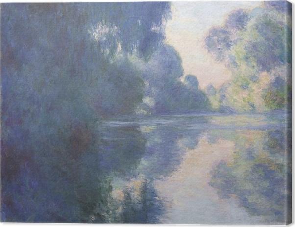 Leinwandbild Claude Monet - Seine am Morgen - Reproduktion