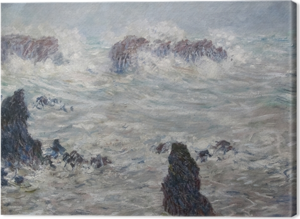 Leinwandbild Claude Monet - Sturm an der Küste von Belle-Île - Reproduktion