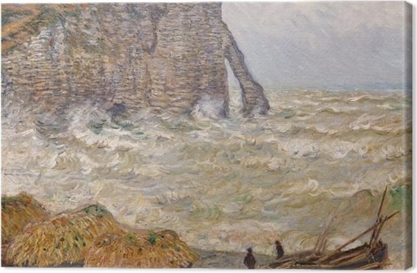 Leinwandbild Claude Monet - Stürmisches Meer bei Étretat - Reproduktion