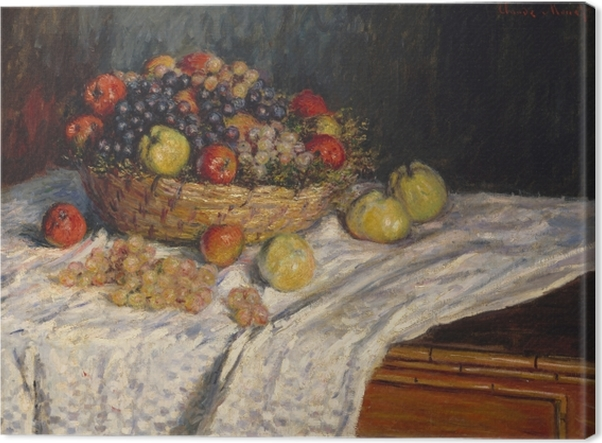 Leinwandbild Claude Monet - Trauben und Äpfel - Reproduktion