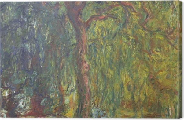Leinwandbild Claude Monet - Trauerweide - Reproduktion