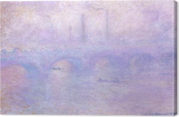 Leinwandbild Claude Monet - Waterloo Bridge im Nebel - Reproduktion