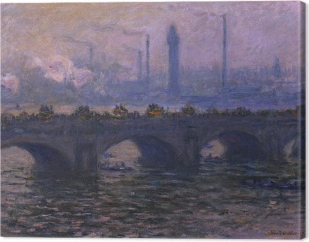 Leinwandbild Claude Monet - Waterloo Bridge - Reproduktion