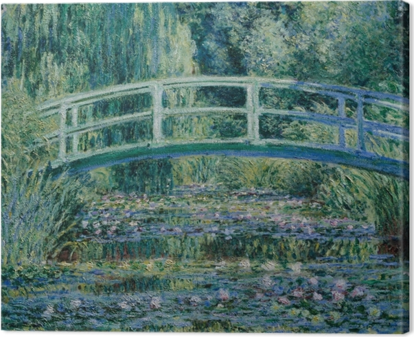 Leinwandbild Claude Monet - Weiße Seerosen - Reproduktion