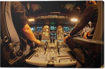 Leinwandbild Cockpit bei Nacht