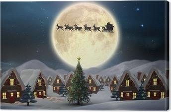 Leinwandbild Composite-Bild von cute Christmas Dorf