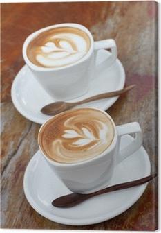 Leinwandbild Cup of coffee latte