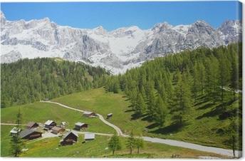 Leinwandbild Dachstein in den österreichischen Alpen, Österreich