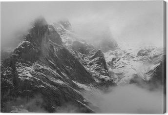 Leinwandbild Das Wetterhorn (3692m) Dorf Grindelwald, Schweiz