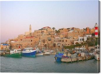 Leinwandbild Der alte Hafen in Jaffa. Tel Aviv