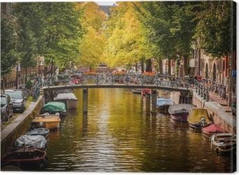 Leinwandbild Der Amsterdamer Gracht