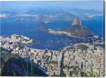 Leinwandbild Der Berg Zuckerhut und Botafogo in Rio de Janeiro