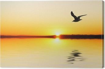 Leinwandbild Der Giebel in der Morgendämmerung