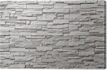 Leinwandbild Der graue moderne Steinmauer