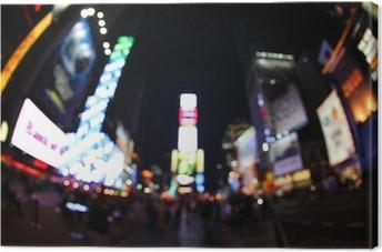 Leinwandbild Der Times Square bei Nacht