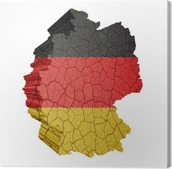 Leinwandbild Deutschlandkarte
