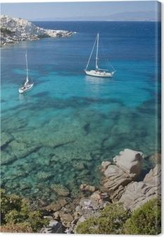 Leinwandbild Die Bucht von Cala Spinosa in Sardinien