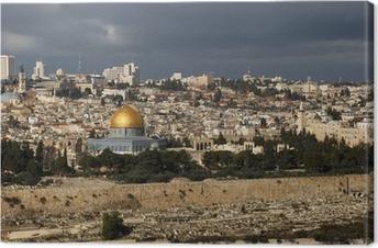 Leinwandbild Die heilige Stadt Jerusalem aus Israel