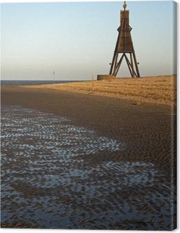 Leinwandbild Die Kugelbake in Cuxhaven
