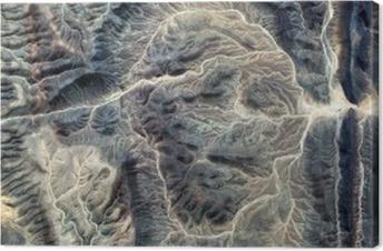 Leinwandbild Die Mumie, abstrakte Landschaften der Wüsten Afrikas, Stein Gesicht, abstrakte Fotografie Wüsten Afrikas aus der Luft, abstrakten Surrealismus, Fata Morgana in der Wüste, Fantasie aus Stein, abstrakten Expressionismus