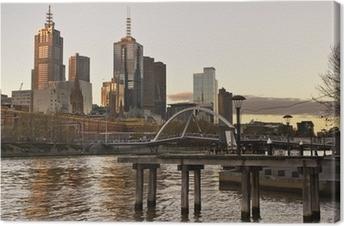 Leinwandbild Die Skyline von Melbourne