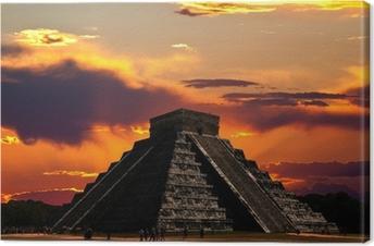 Leinwandbild Die Tempel von Chichen Itza Tempel in Mexiko