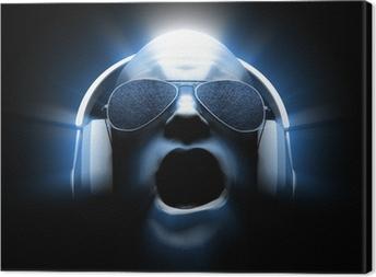 Leinwandbild DJ mit Kopfhörern