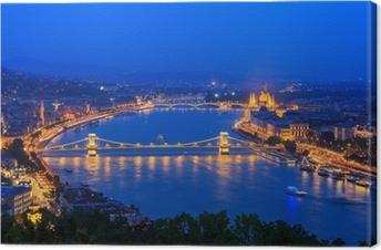 Leinwandbild Donau. Budapest. Ungarn