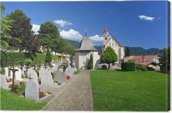 Leinwandbild Dorf Tirol Nahe Meran - Südtirol