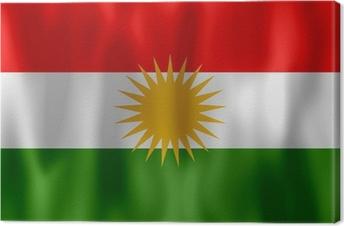 Leinwandbild Drapeau Kurdistan