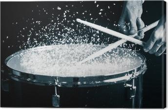 Leinwandbild Drum, Hand-und Stöcken