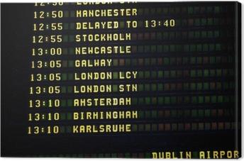 Leinwandbild Dublin-Zeitplan
