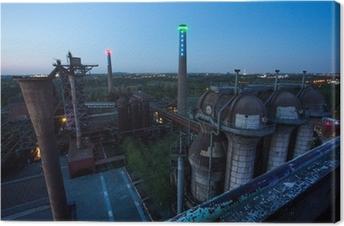 Leinwandbild Duisburg Landschaftspark Nord in den Abend