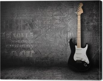 Leinwandbild E-Gitarre und die Wand