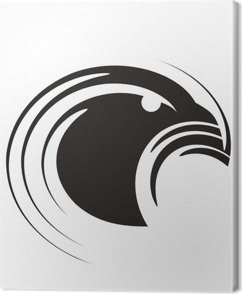 Leinwandbild Eagle   Einzigartige Und Moderne Heraldischen Logo Design  Konzept